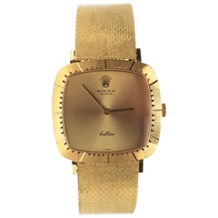 Rolex Cellini Classic 1970-1979 Reference 4084 18 Karat Yellow Gold Men's Watch