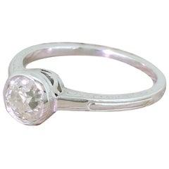 Art Deco 1.00 Carat Old Cut Diamond Engagement Ring