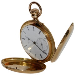 Jules Jürgensen Copenhagen Yellow Gold Hunter Pocket Watch