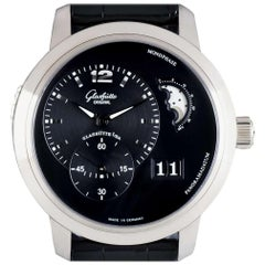 Glashutte PanoMaticLunar XL White Gold Black Dial 90-02-33-34-05 Automatic Watch