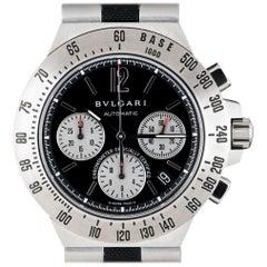 Bvlgari Diagono Professional Chrono Steel Black Dial CH40STA Automatic Watch