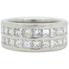 10.00 Carat Men's Diamond Eternity Band Ring in Platinum