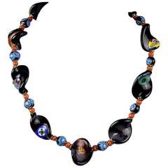 Millefiori Italian Glass Bead Necklace
