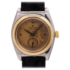 Rolex Serpico Y Laino Yellow Gold Stainless Steel Bubbleback Wristwatch, 1938