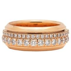 Piaget Diamond and 18 Karat Rose Gold Possession Eternity Ring