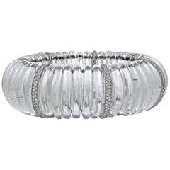Art Deco Style Diamond Rock Crystal Bracelet