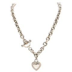 Judith Ripka Sterling Silver Necklace with Heart Charm