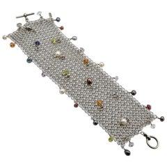 Allison Stern Silver Bracelet Maille Mesh