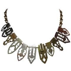 Artisan-Made Fur Clip Necklace