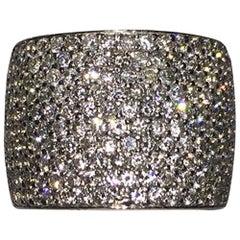 Alberto Juan Ten-Row Pave Set Diamond Platinum Ring