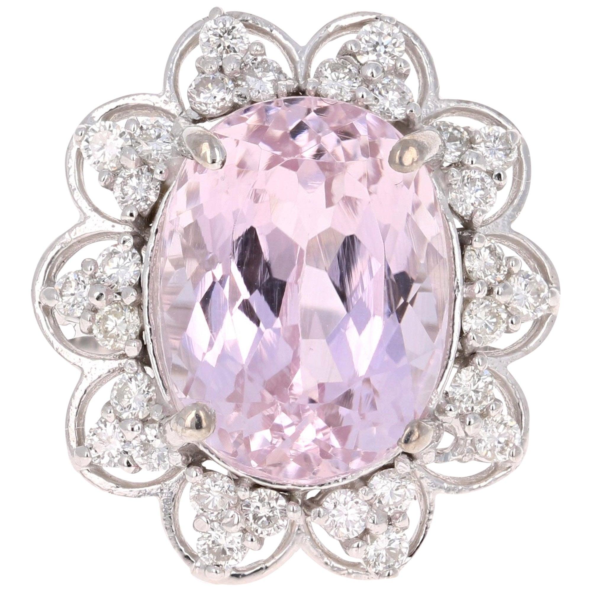 Classic Faux White Cushion Cut 10 Carat Diamond White Gold Ring at ...