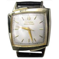 Bulova Yellow Gold Accutron Asymmetric Wristwatch