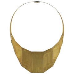 H Stern & Oscar Niemeyer 18 Karat Yellow Gold Bib Necklace