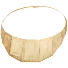 H Stern & Roberto Moriconi 18 Karat Yellow Gold Bib Necklace