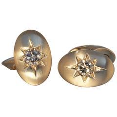 Robert Vogelsang 1.22 Carat Natural Brown Diamond 18 Karat Rose Gold Cufflinks