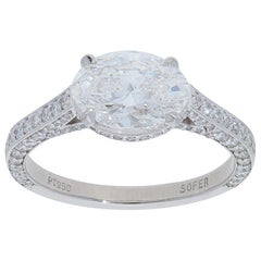 GIA Certified 2.83 Carat Oval Diamond Ring