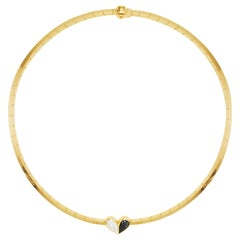 Cadar Unconditional Love Choker, 18K Yellow Gold and Black and White Diamonds