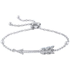 0.22 Carat Diamond White Gold Arrow Bracelet