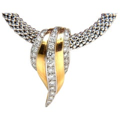 1.00 Carat Diamonds Slope Enhancer Diamond Slide Beaded Necklace 14 Karat