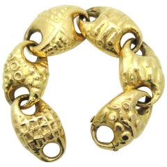 Franco Cannilla Sculpted Anchor Link Bracelet, 1950s