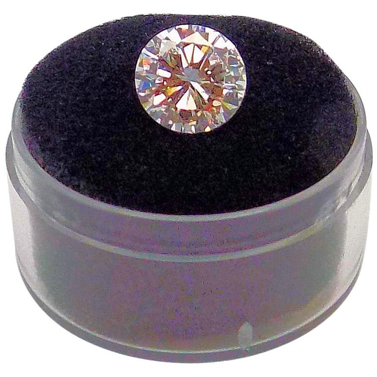 GIA Certified 2.11 Carat Round Brilliant Diamond For Sale