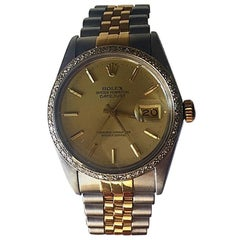 Rolex Datejust 16013 Stainless and 18 Karat Gold, Champagne Dial or Diamond Beze