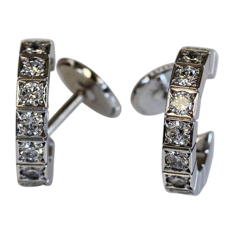 Cartier Lanieres Diamond Hoop Earrings