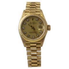 Rolex Datejust 69178 18 Karat Gold Champagne Factory Diamond Dial-Box / Papers