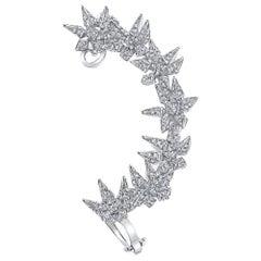 18 Karat Diamond Eclipse Spike Geometric Ear Cuff