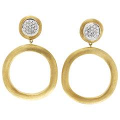 Marco Bicego 18 Karat Yellow Gold Diamond Jaipur Links Earrings