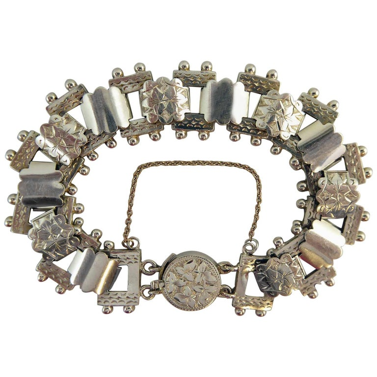 Antique Victorian Silver Bracelet, circa 1900