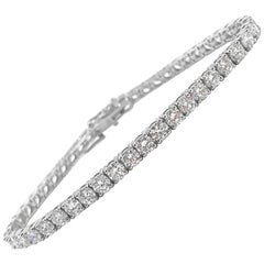 White Gold Tennis Bracelet, 7.45 Carat