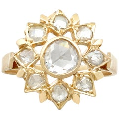 1950s Diamond and Yellow Gold Cluster Ring