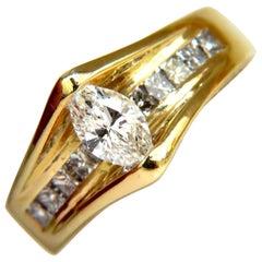 1.12 Carat 18 Karat 1.12 Carat Diamonds Tension Top Class Mod Deco Handmade Ring