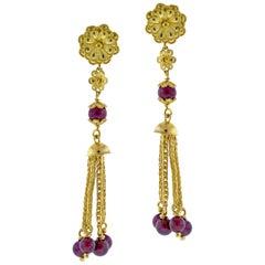 Ilias Lalaounis Garnet Tassel Necklace