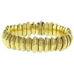 Henry Dunay Faceted Gold Bracelet