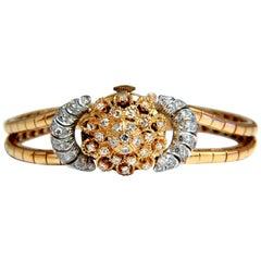 Vintage Hamilton Ladies Diamond Watch 14 Karat. 1.00 Carat Diamonds