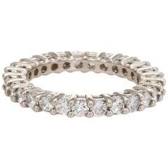 1.89 Carat Diamond Eternity Ring Vintage Fine Estate Jewelry Stacking