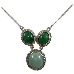 Alberto Juan Mexican Handmade Sterling Silver Jade Necklace