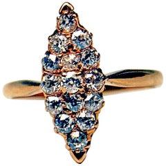 Art Nouveau Navette Ring Diamonds 0.75 Carat Vienna, Austria, circa 1900