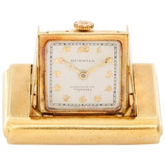 Dunhill Yellow Gold Enamel Art Deco Manual Purse Watch
