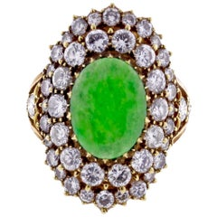 Buccellati Diamond and Jade Ring