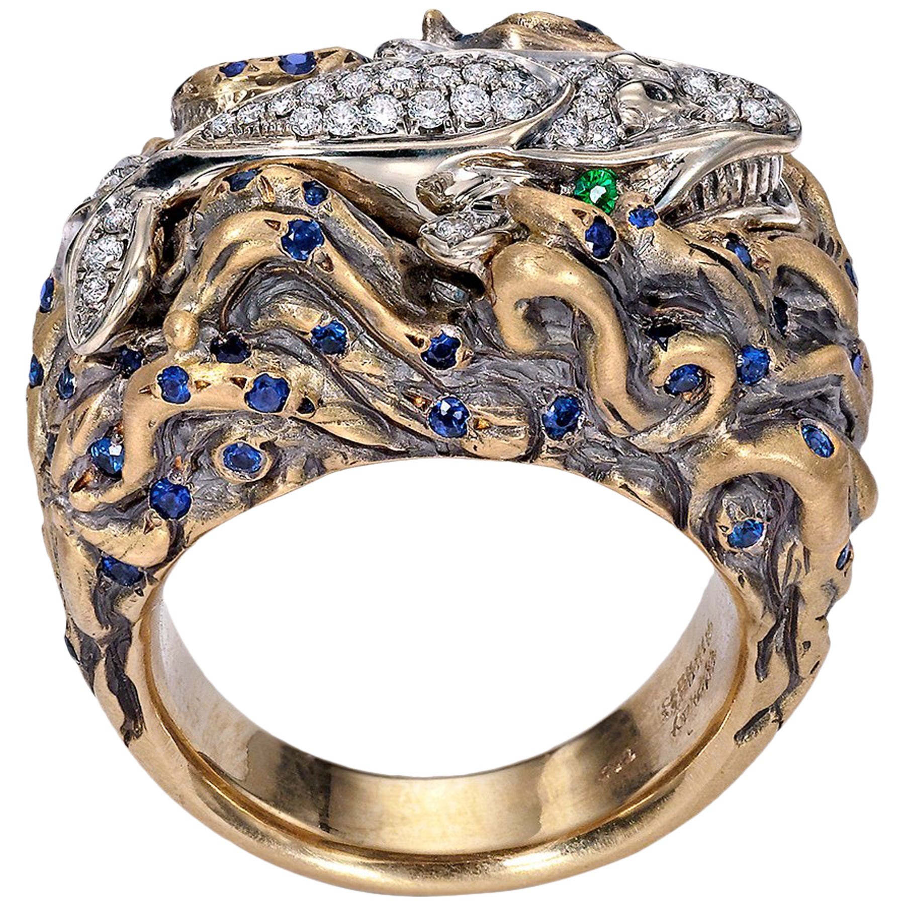 Wendy Brandes Signed Maneater Collection Ring: Whale and Jonah