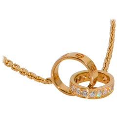 Cartier 18 Karat Rose Gold Diamond LOVE Collection Necklace