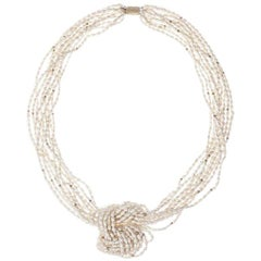 Multi-Strand Freshwater Pearl Bead Necklace
