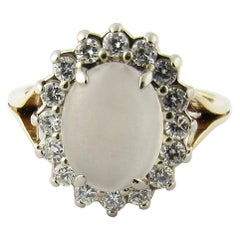 14 Karat Yellow Gold Moonstone Ring