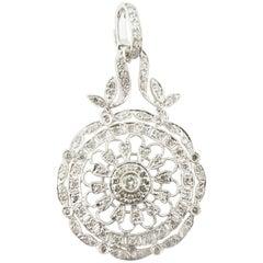 18 Karat White Gold and Diamond Pendant