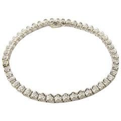 14 Karat White Gold Diamond Tennis Bracelet 1.5 Carat