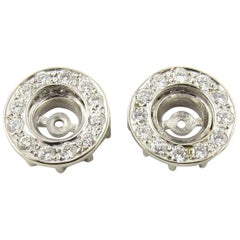 14 Karat White Gold Diamond Earring Jackets
