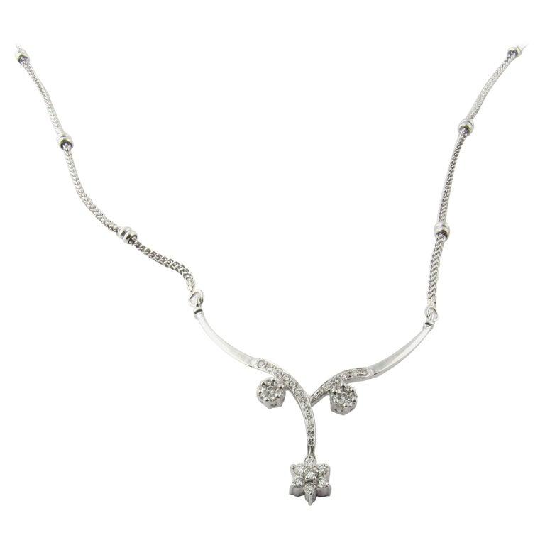 18 Karat White Gold and Diamond Necklace